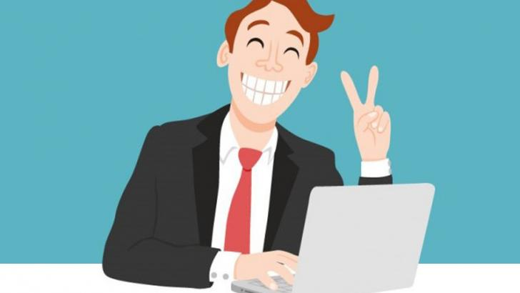 trabajador contento