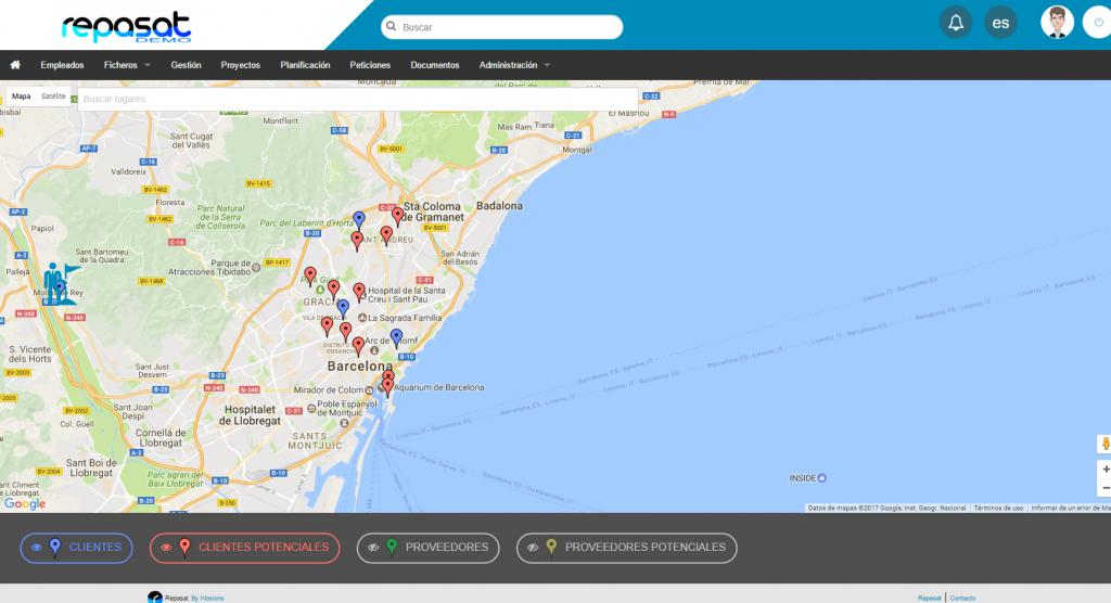 CRM Geolocalización de clientes y leads
